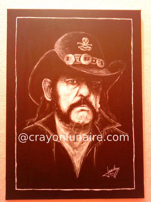 Portrait Lemmy Kilmister huile sur toile