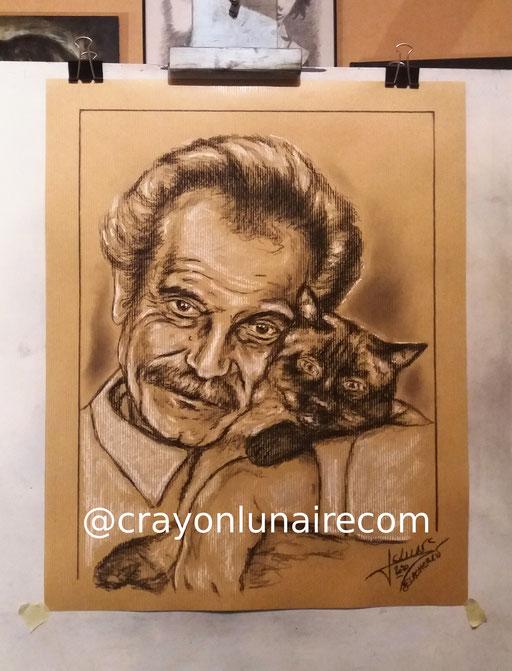 Georges-Brassens-fusain-sur-papier-craft