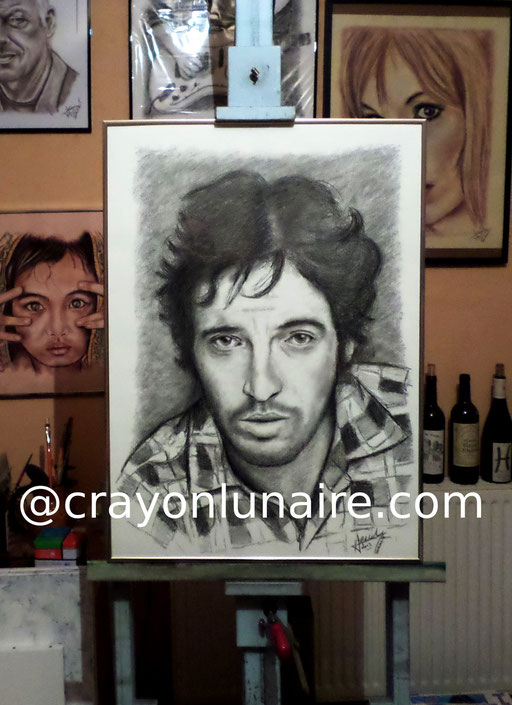 Bruce Springsteen portrait graphite