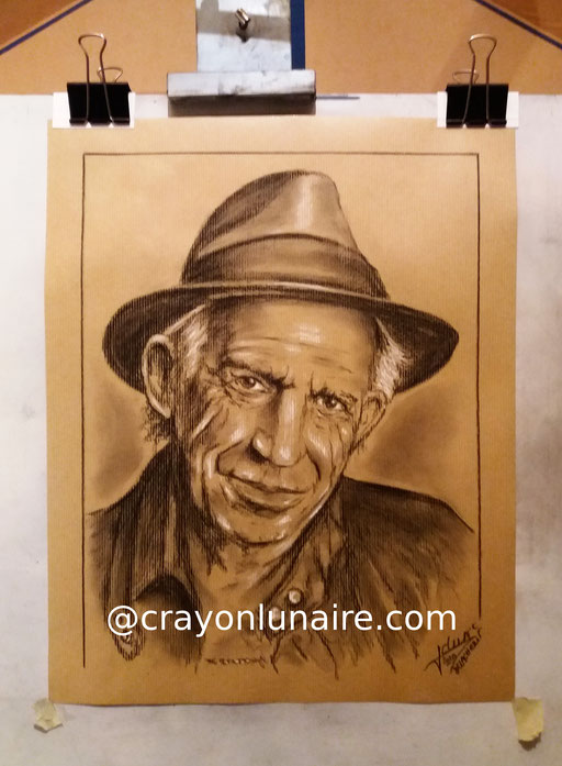 Keith-Richards-portrait-kraft-paper