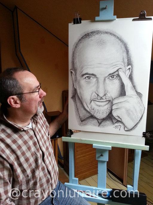 Peter Gabriel by crayon lunaire
