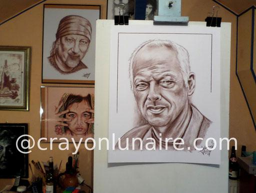 David Gilmour portrait sanguine Médicis.