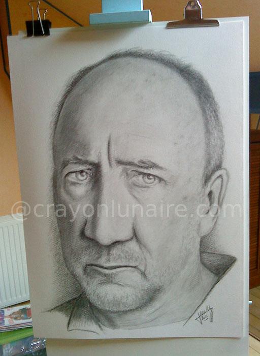 Pete Townsend portrait graphite