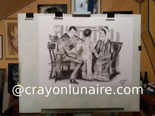 Laennec-fusain-crayon-lunaire