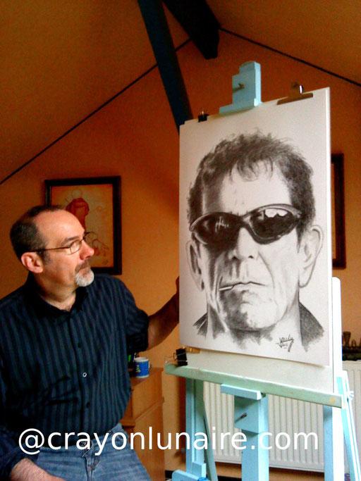 Lou Reed portrait  graphite