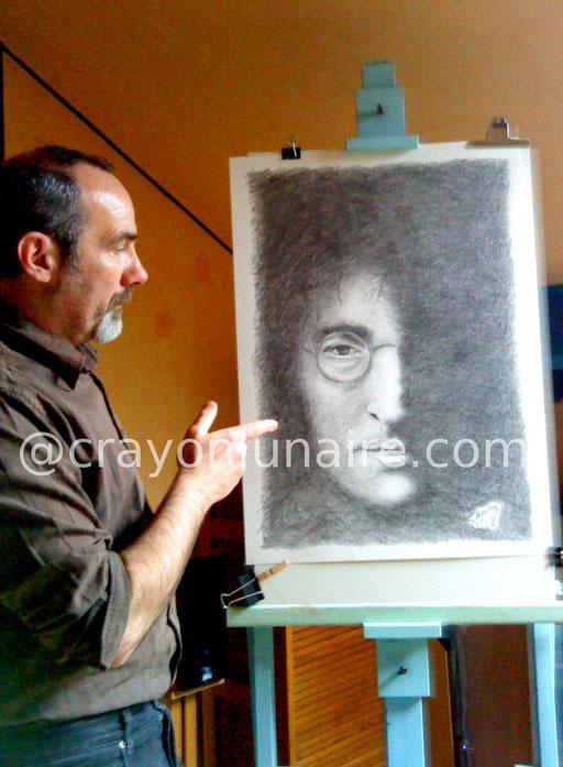 John Lennon by crayon lunaire