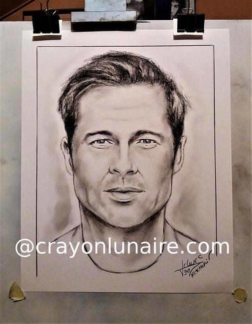 #BradPitt-portrait