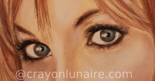 Portrait Candice night pastel sec.