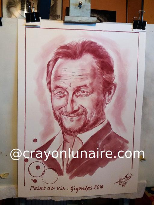 Portrait-benoit-poelvoorde-peinture-au-vin-rouge