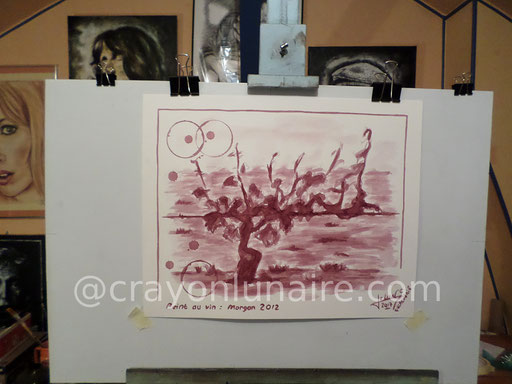 Cep : Peinture au vin