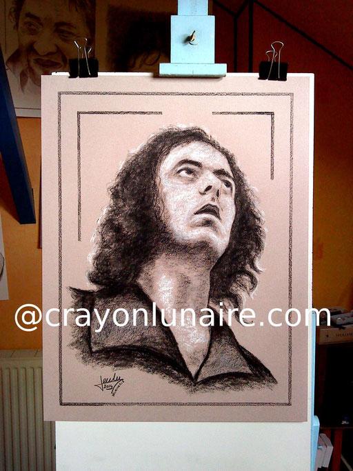 Ritchie Blackmore portrait au fusain