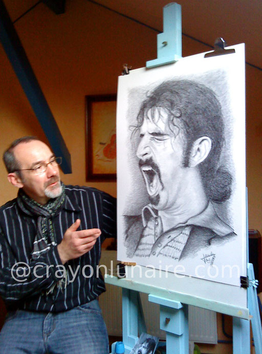 Franck Zappa by crayon lunaire