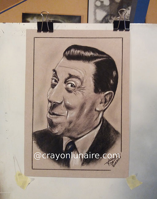 Fernandel-portrait-au-fusain