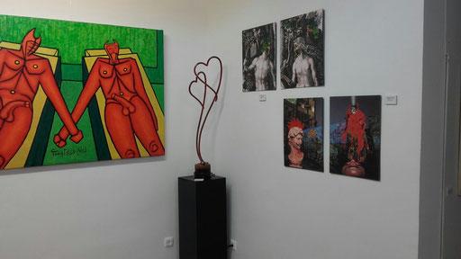 Amentia Amore en la galeria Eka Moor de Madrid.  El erotismo en el arte
