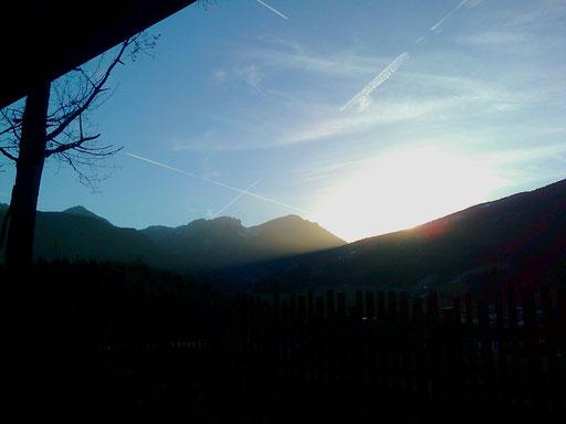 Sonnenuntergang Dolomiten + tramonto Dolomiti + dusk Dolomites