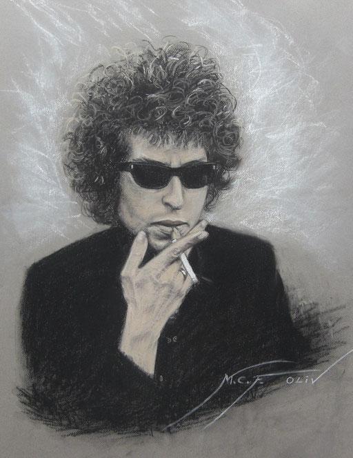 Bob Dylan - 50 x 65 cm pastel