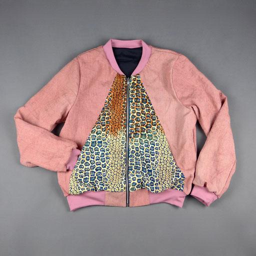 einen/waxprint reversible bomber jacket