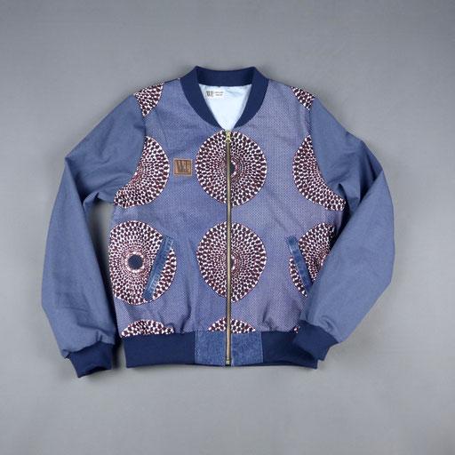 nsu bura africanprint bomber jacket