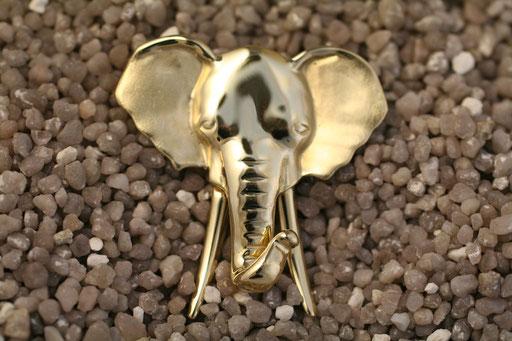 Elefant aus Gelbgold