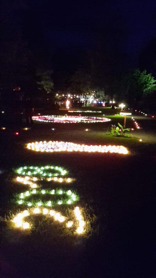 Zahlreiche Lichtmotive schmücken den Kurpark