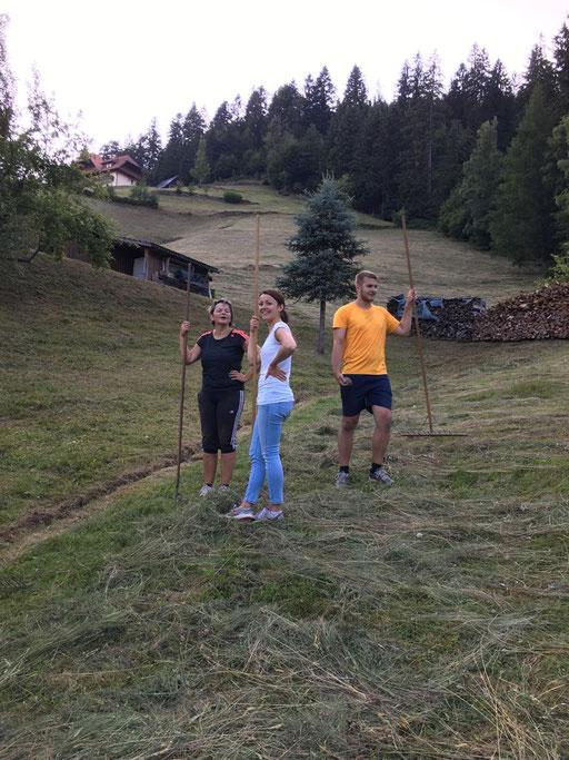 Patricia, Petra und Marco am Verschnaufen