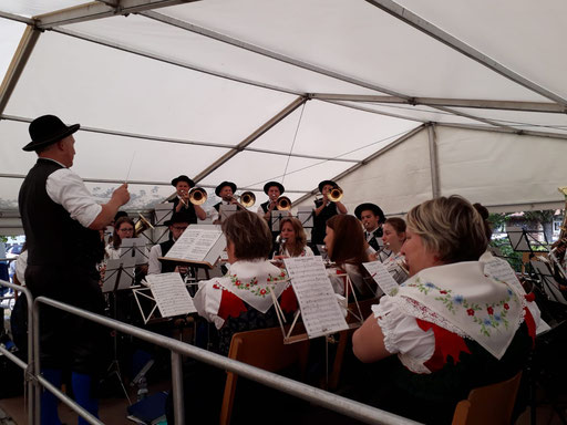 Konzert beim Musikfest in Schapbach