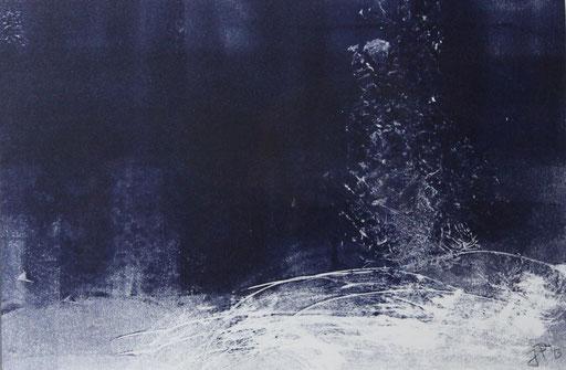 """""""Sternenstaub""""  Monotypie / 26 x 37"""