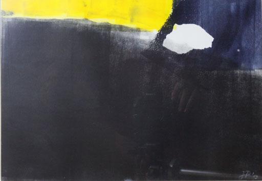 """""""Das Tor zum Licht""""  Monotypie / 26 x 37"""