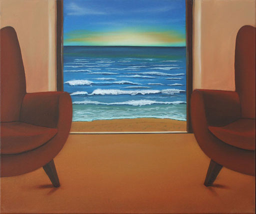 #Klassische_ Malerei#Lasurmalerei# Meer# Blick_nach_draußen#Thomas#Klee