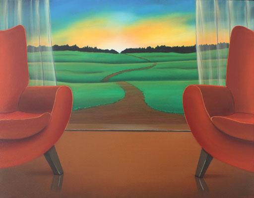#Klassische_ Malerei#Lasurmalerei#Der_Weg#Toscana#Landschaft#Sonnenuntergang#Thomas#Klee