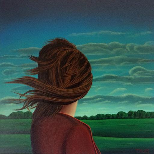 #Klassische_ Malerei#Lasurmalerei#Die_Frau_in_der_Landschaft#Blick_in_die_Landschaft#Wind#Sturm#Thomas#Klee