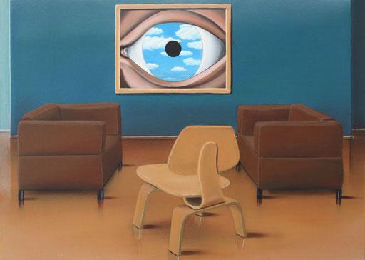 #Klassische_ Malerei#Lasurmalerei#Rene_Magritte#Das_Auge#Fauteuil#Stuhl#Desinger_Stuhl#Thomas#Klee