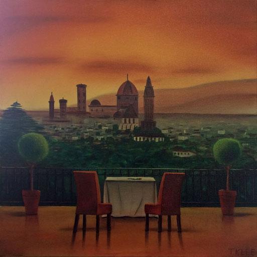 #Klassische_ Malerei#Lasurmalerei#Landschaft#Florenz#Italien#Thomas#Klee