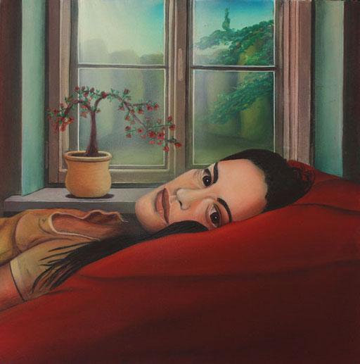 #Klassische_ Malerei#Lasurmalerei#Frau_am_Fenster#Polster#Thomas#Klee