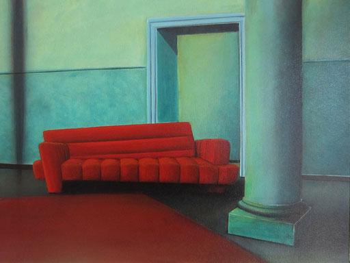 #Klassische_ Malerei#Lasurmalerei#rotes_Sofa#Thomas#Klee