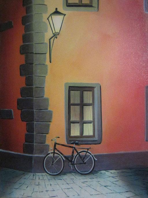 #Klassische_ Malerei#Lasurmalerei#Fahrrad#Laterne#Thomas#Klee