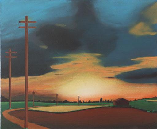 #Klassische_ Malerei#Lasurmalerei#der_Weg_zum_Licht#Sonnenuntergang#Wolken#Thomas#Klee