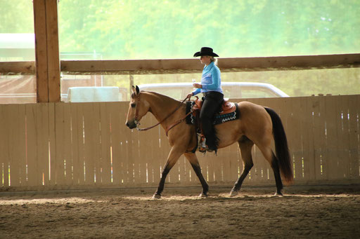 Susanne und Buck machten den 1. Platz in der Ranch Riding