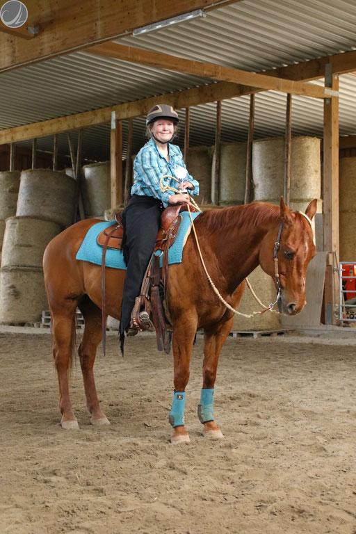 Susanne mit Sunny, Gewinnerin der Para Reining