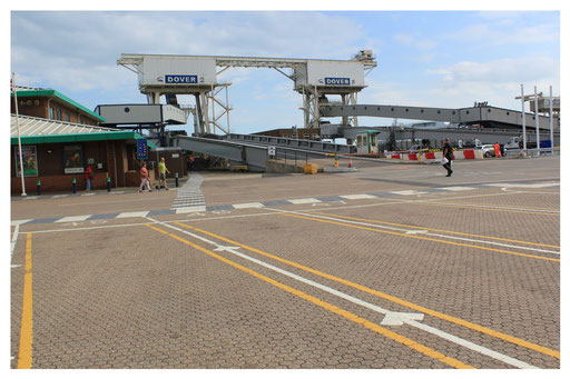 Dover Rückfahrt auf den Kontinent über den Ärmelkanal