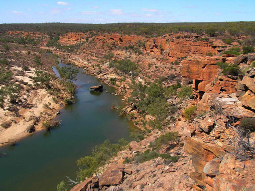 Hier an den einmaligen Schluchten des Murchison River sowie im gesamten Kalbarri National Park, gibt es unzaehlige Wanderwege.