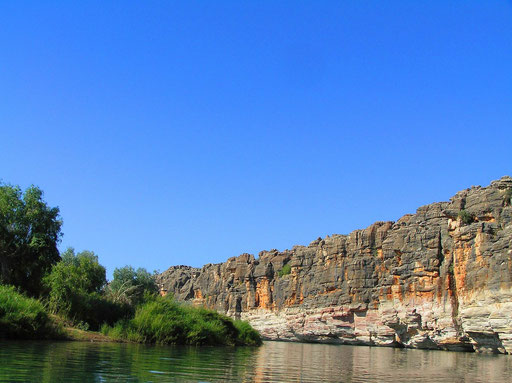 22 km von Fitzroy Crossing W.A entfernt liegt der Geikie Gorge Nationalpark