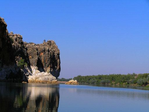 Durch sein riesiges Einzugsgebiet fuehrt der Fitzroy River permanent Wasser.