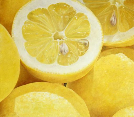 <b>Zitronen</b><br>Öl/Leinwand | 2013 | 70 x 80 cm<br><small>(Privatbesitz)