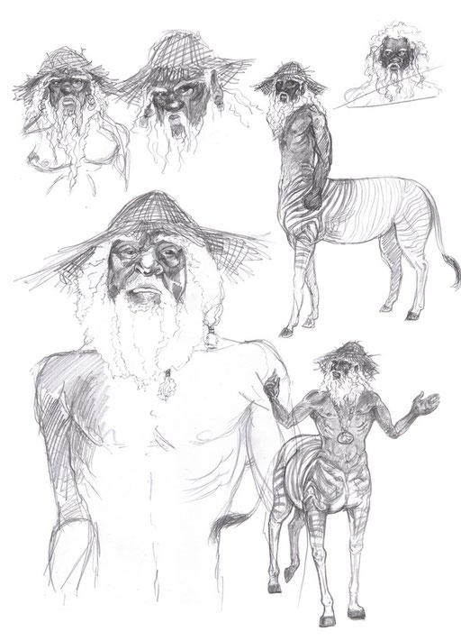 Caíron, der alte Schwarzcentaur