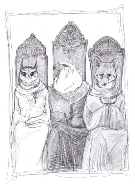Die Drei Tief Sinnenden: Uschtu, Schirkrie und Jisipu