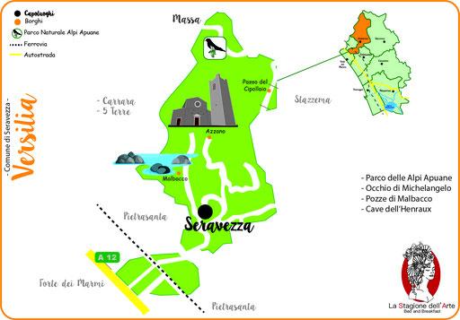 Mappa del Comune di Seravezza