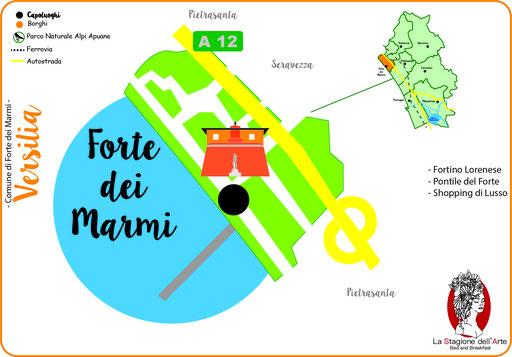 Mappa del Comune di Forte dei Marmi