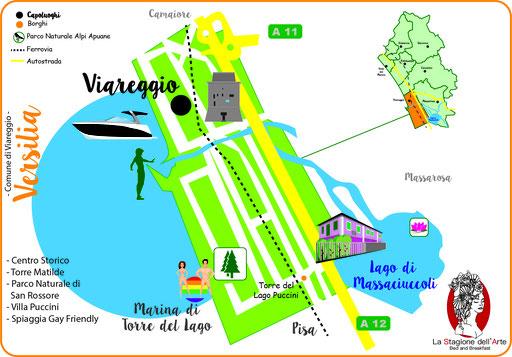 Mappa del Comune di Viareggio