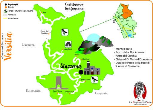 Mappa del Comune di Stazzema
